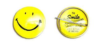 The original Harvey Ross Ball smiling face badge